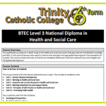BTEC National Dip in H&SC