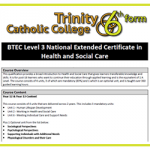 BTEC National Extended Cert in H&SC