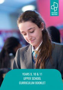 Year 9, 10, 11 Upper School Curriculum Booklet_Cover