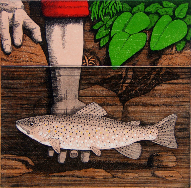 trout-tickling