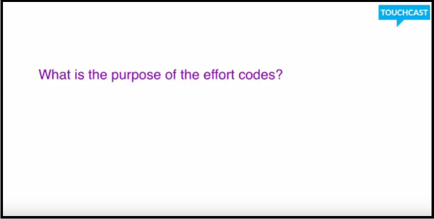 8 What is the purpose of effort codes