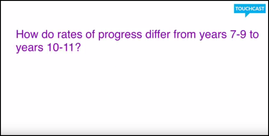 5 How do rates of progress differ from years 7-9 to 10-11