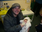 Kieran with baby Alfie