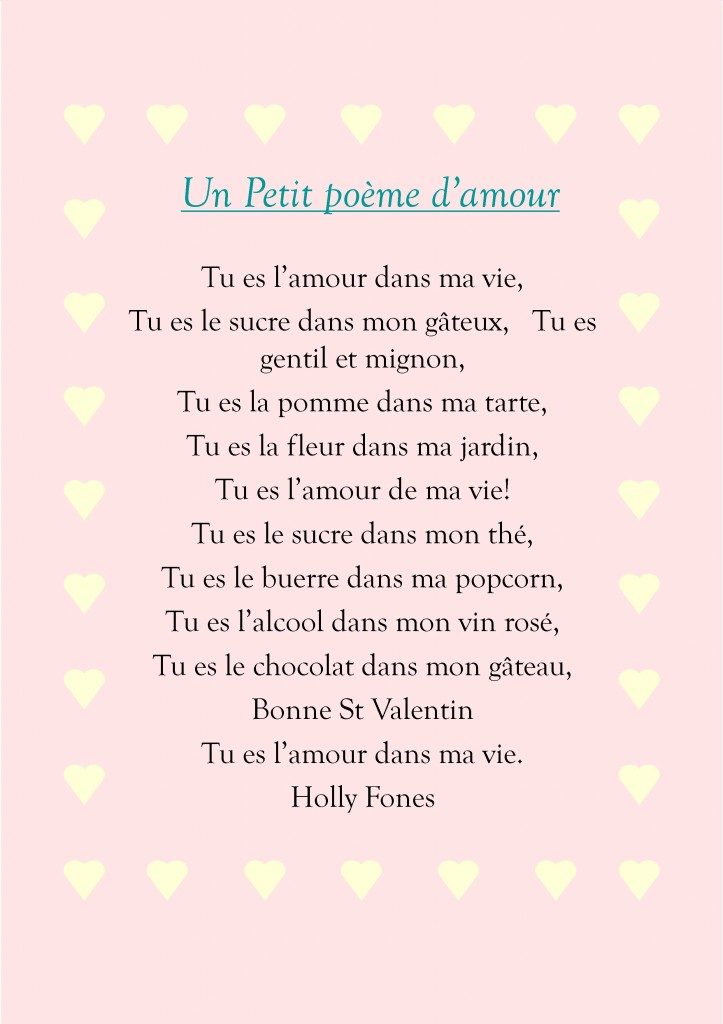 Holly Fones French Poem