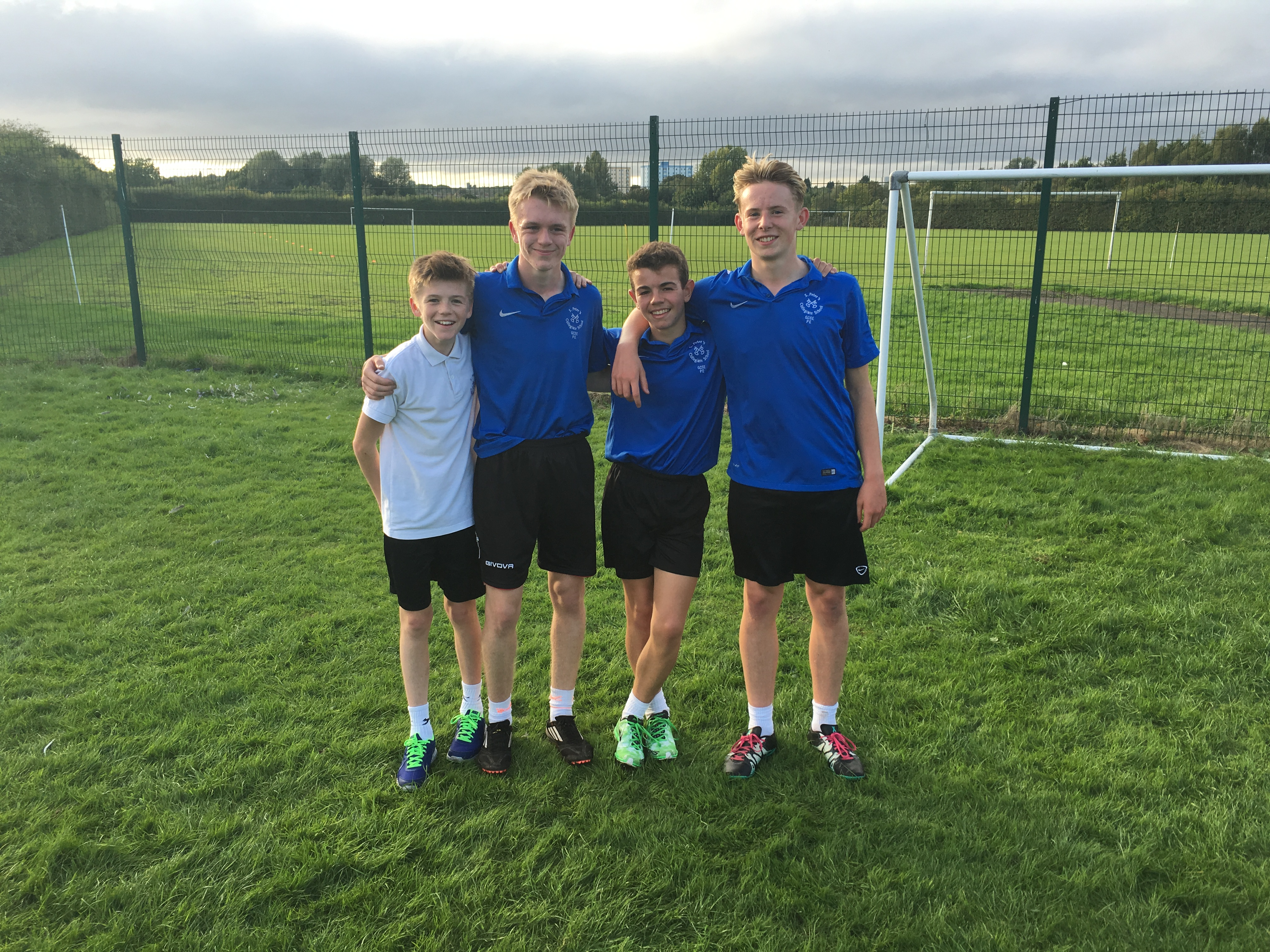 Year 10 and 11 boys cross-country team