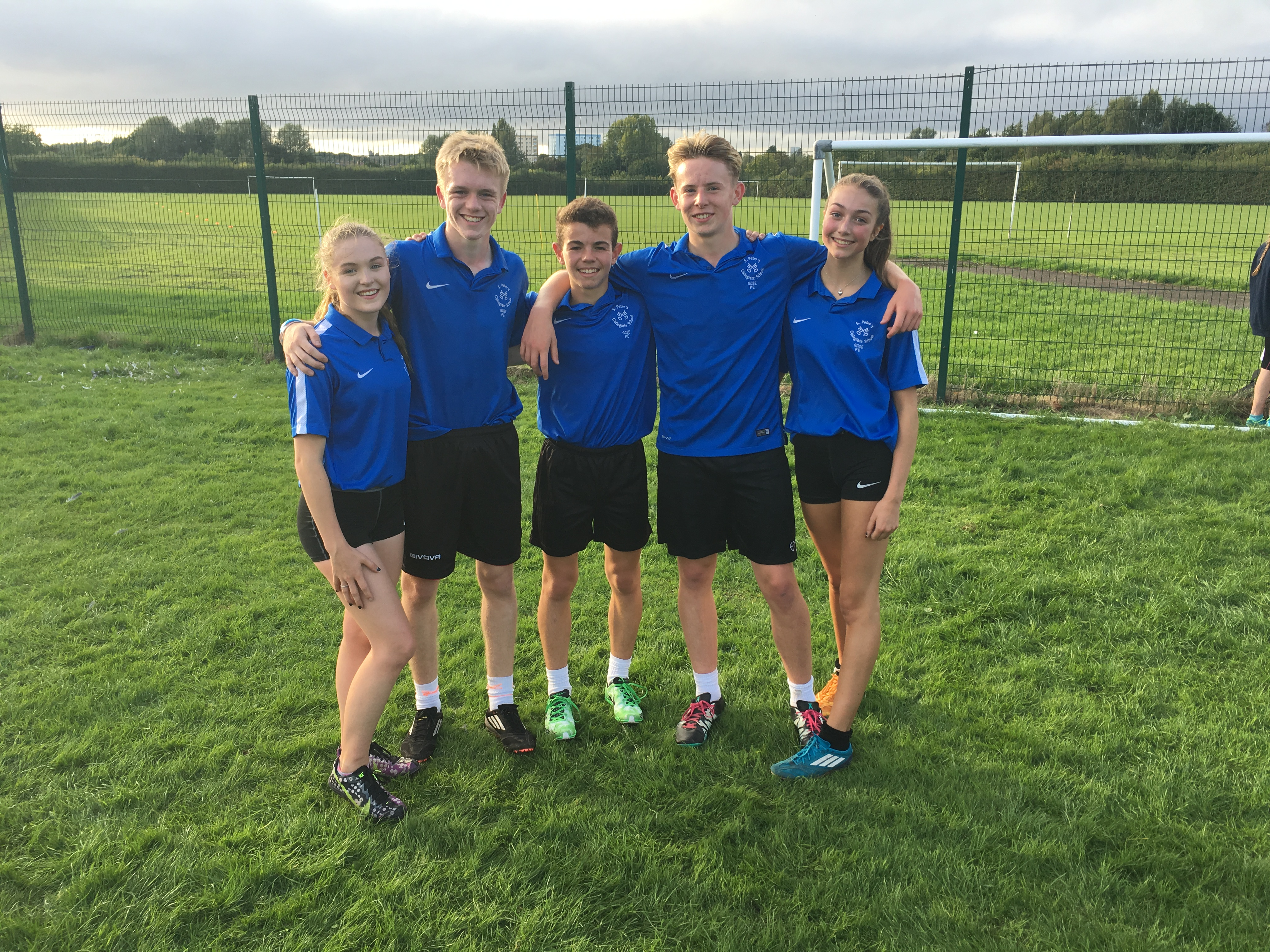 Year 10 and 11 cross-country runners