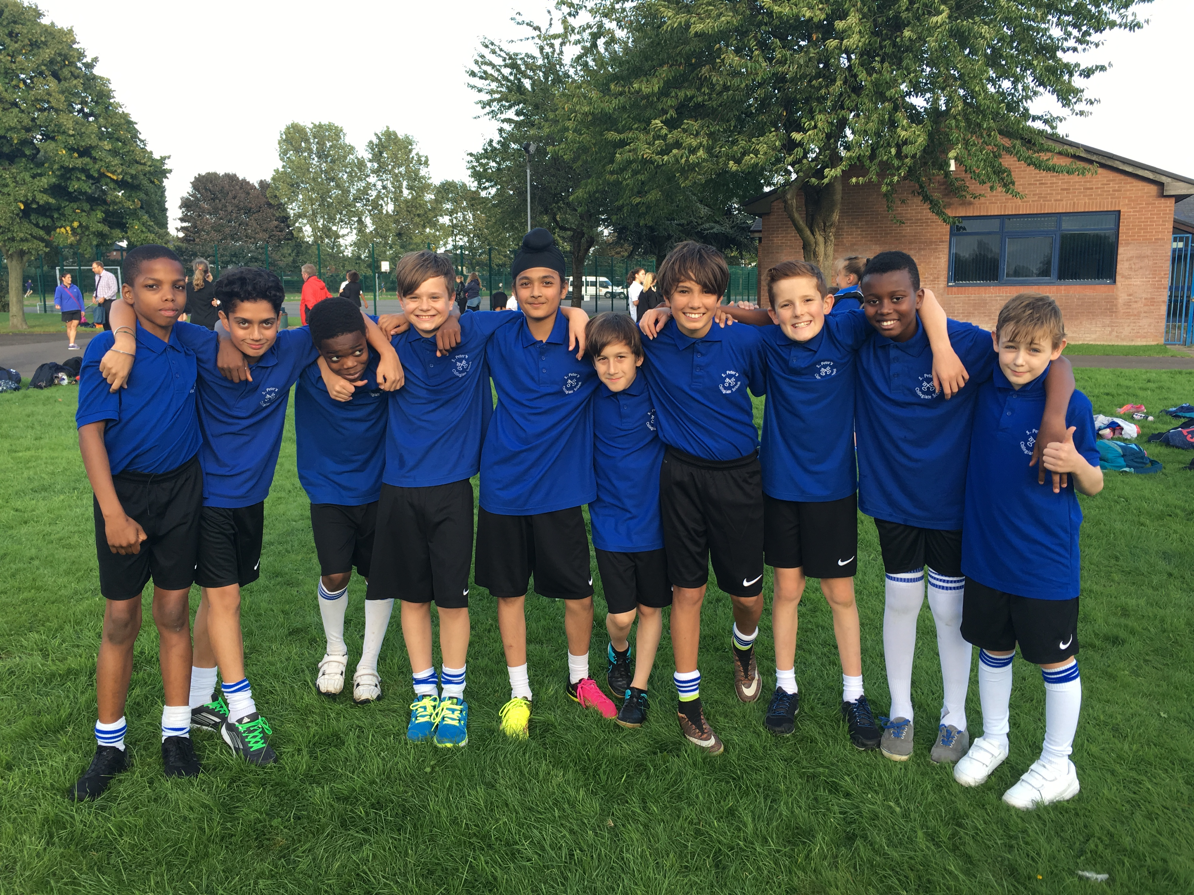 Year 7 boys Cross-Country team