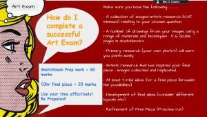 Year 11 Art Exam Updates