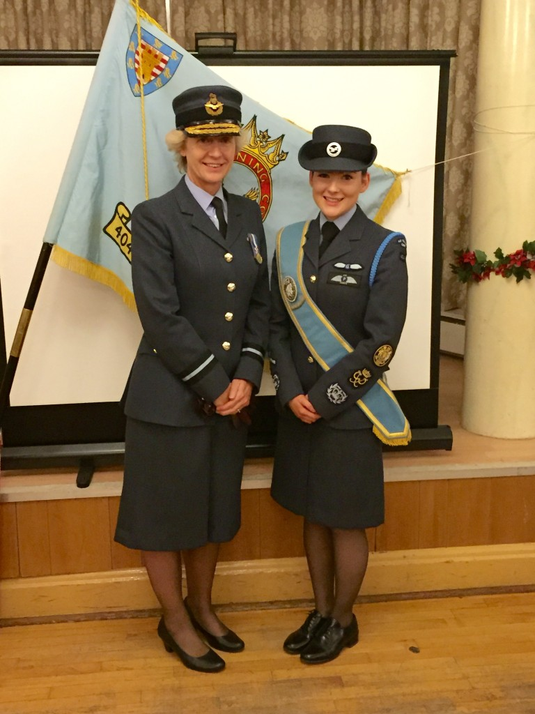 Bridget Donaldson with Air Commodore Dawn McCafferty Commandant RAF Air Cadets
