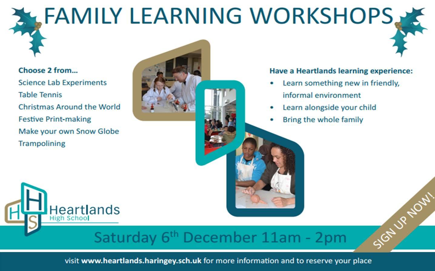 Family Learning Workshops 2 Flyer