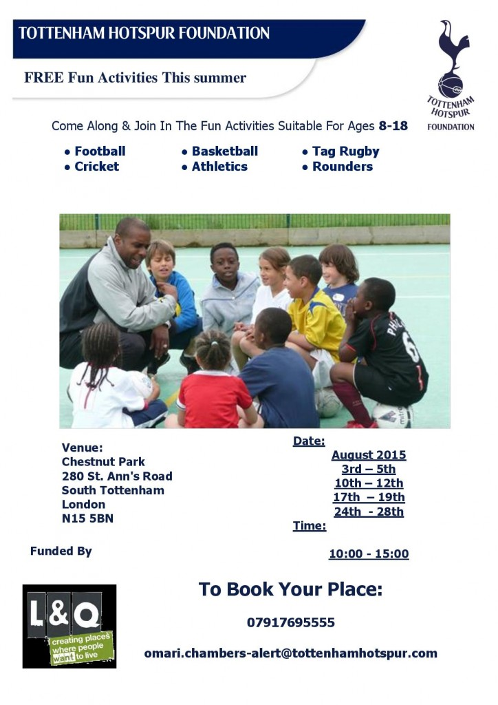 T H Foundation - Free summer 2015 Activities-page-001