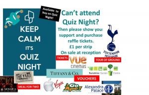 Quiz Night and raffle tickets
