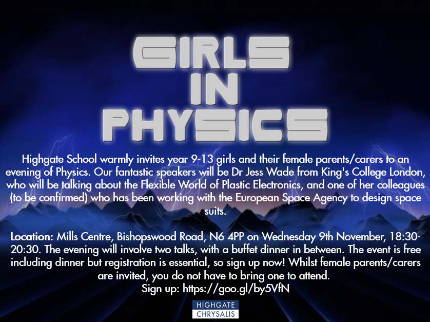 Girls in Physics 9th November 2016