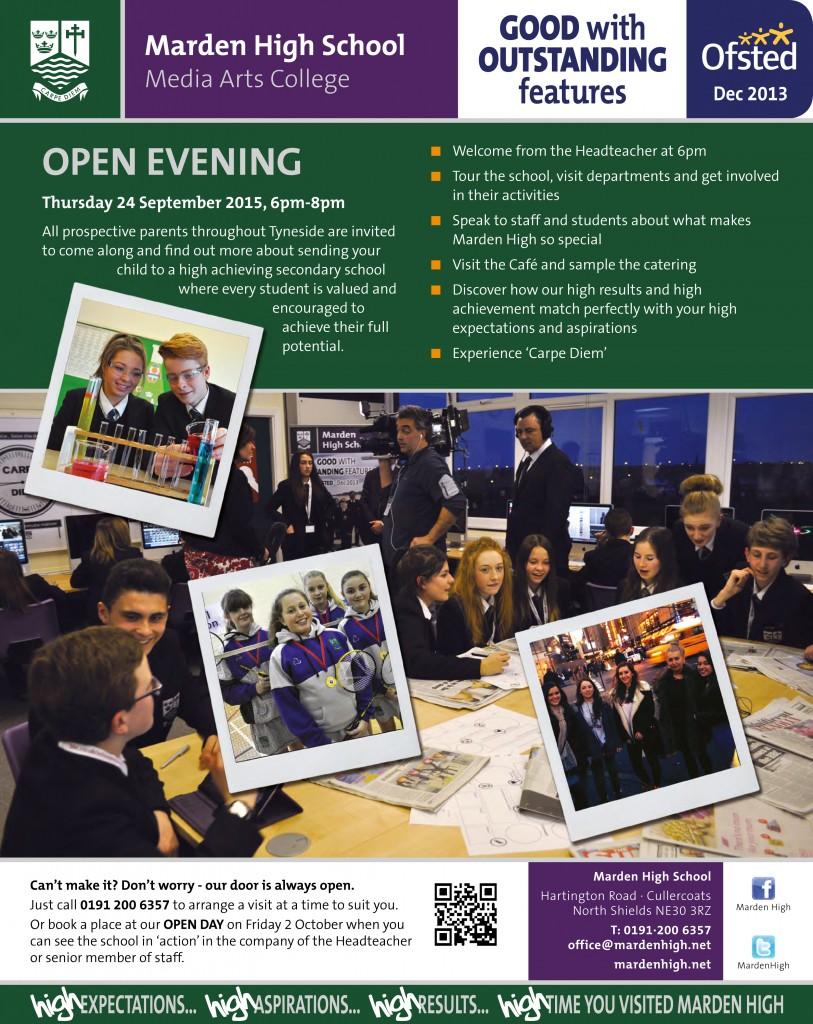 Open Evening 24-9-15