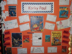 Year 3 did some writing inspired by their visit from Korky Paul
