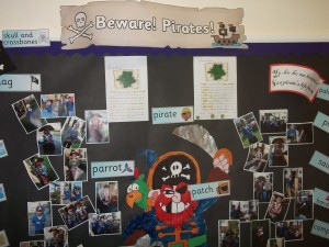 Year 2 did some very exciting work about pirates ooh ahh.