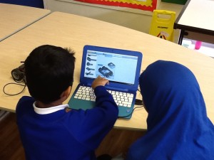 Year 5 and Year 6 had a great time programming robots