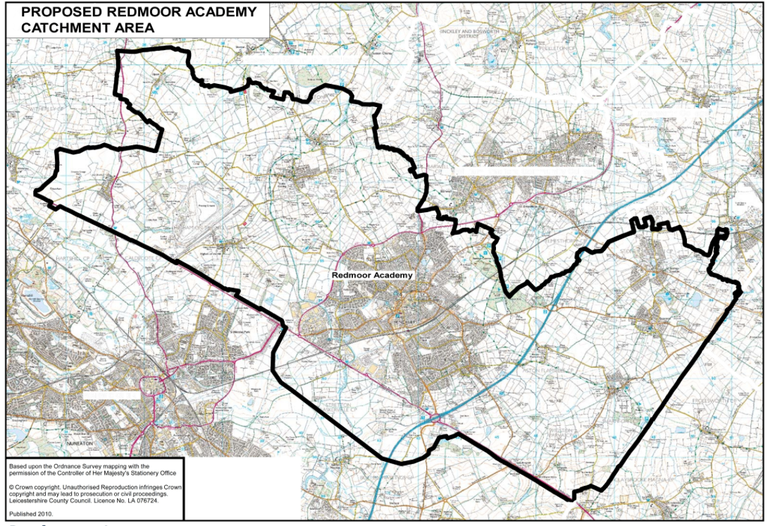 Catchment Area Map Welcome To Redmoor Academy