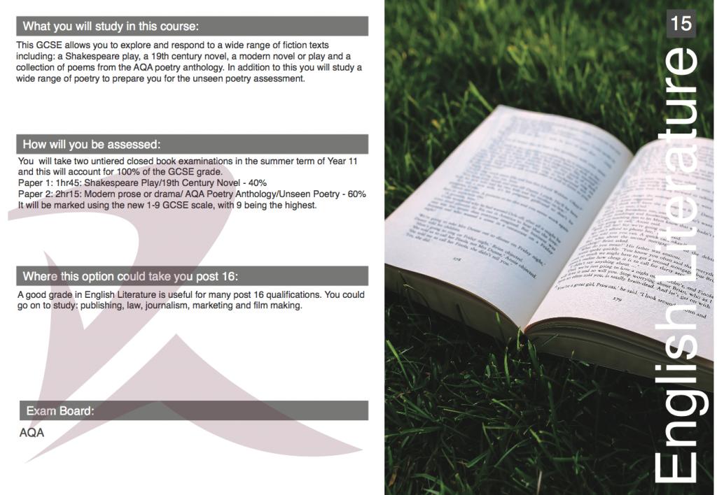 GCSE Options Booklet 2018-19 | Welcome to Redmoor Academy