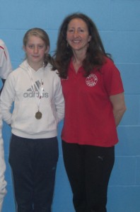 Rachel and Ms Strachan Manchester Int 2013