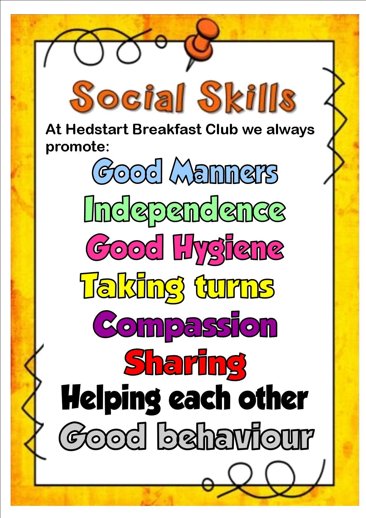 Social Skills Poster