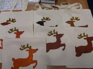 Glam reindeer bags