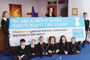 St Augustine's Catholic Primary in Coulby Newham has been commended for embedding the UN Convention on the Rights of the Child throughout its policies, practice and culture